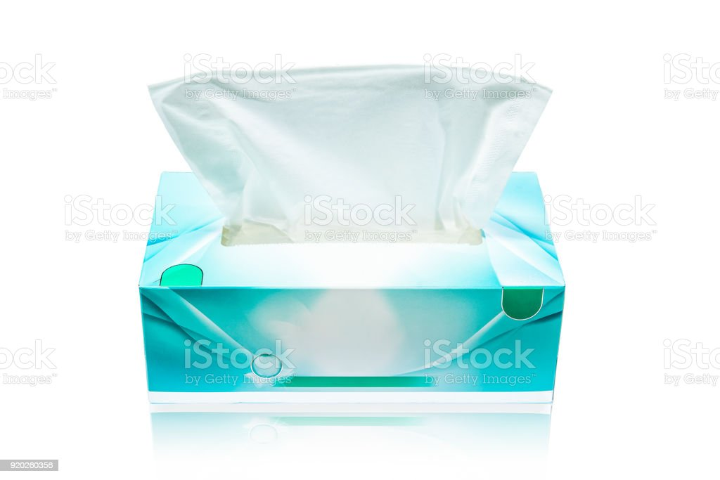 Tissue box mock up white tissue box blank label and no text for packaging stock photo