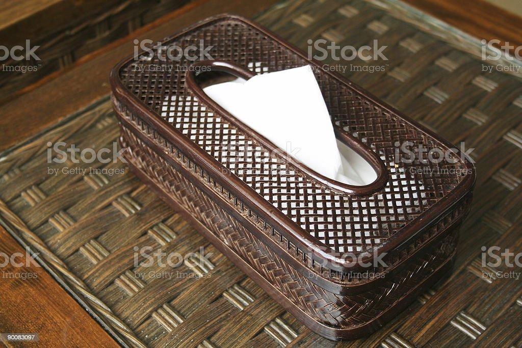 Tissue in cane box stock photo