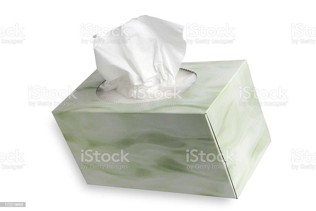 Tissue on White royalty-free stock photo