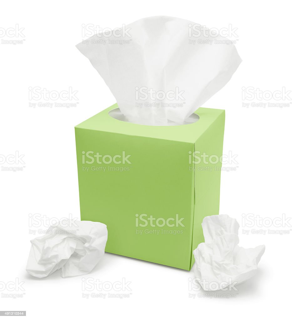 Papel tisú caja (con ruta) - foto de stock