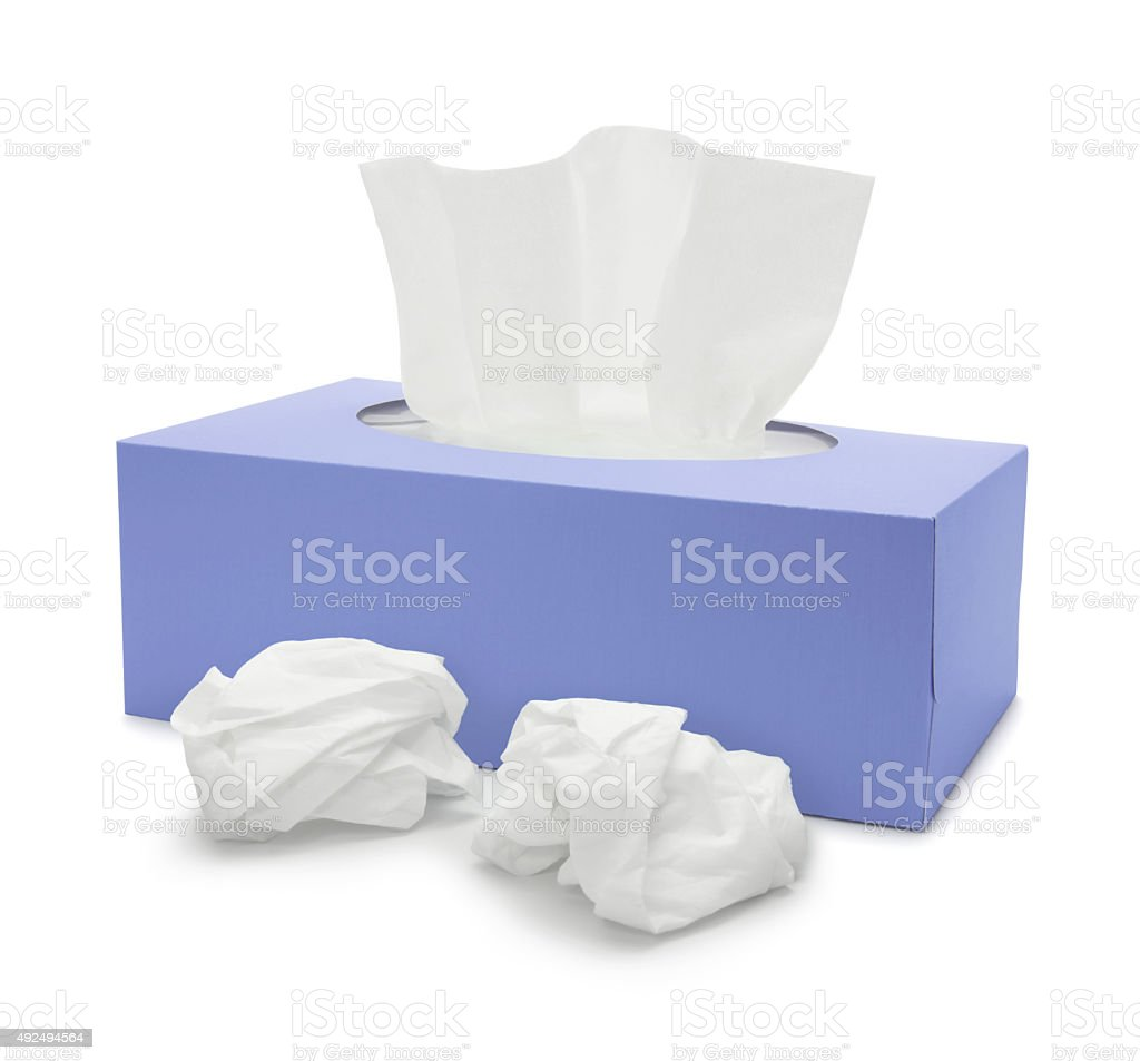 Tissue Paper Box stock photo