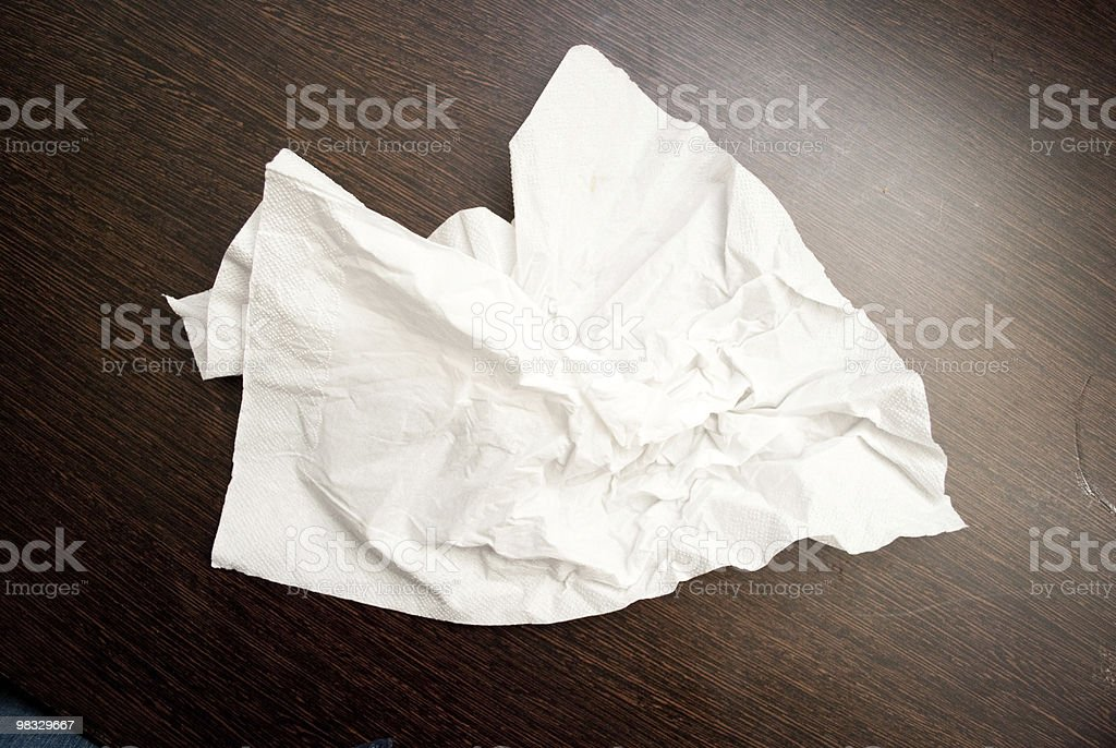 tissue paper on table royalty-free stock photo