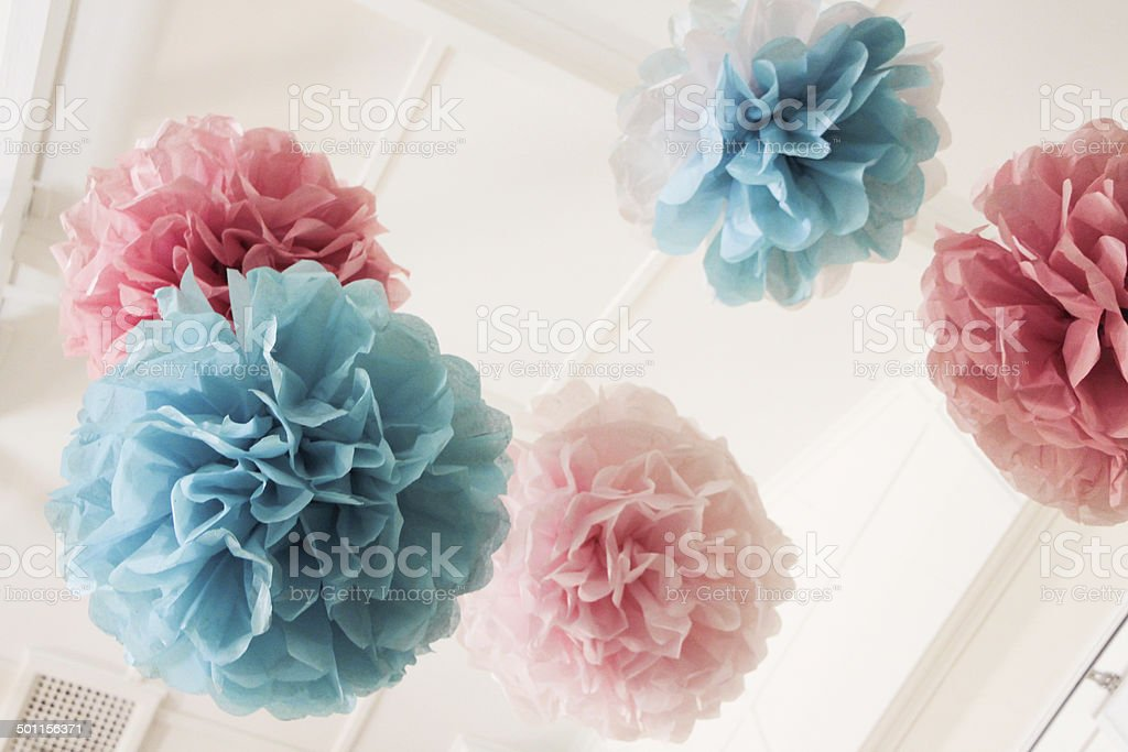 Tissue Paper Pom Poms ^_^ stock photo