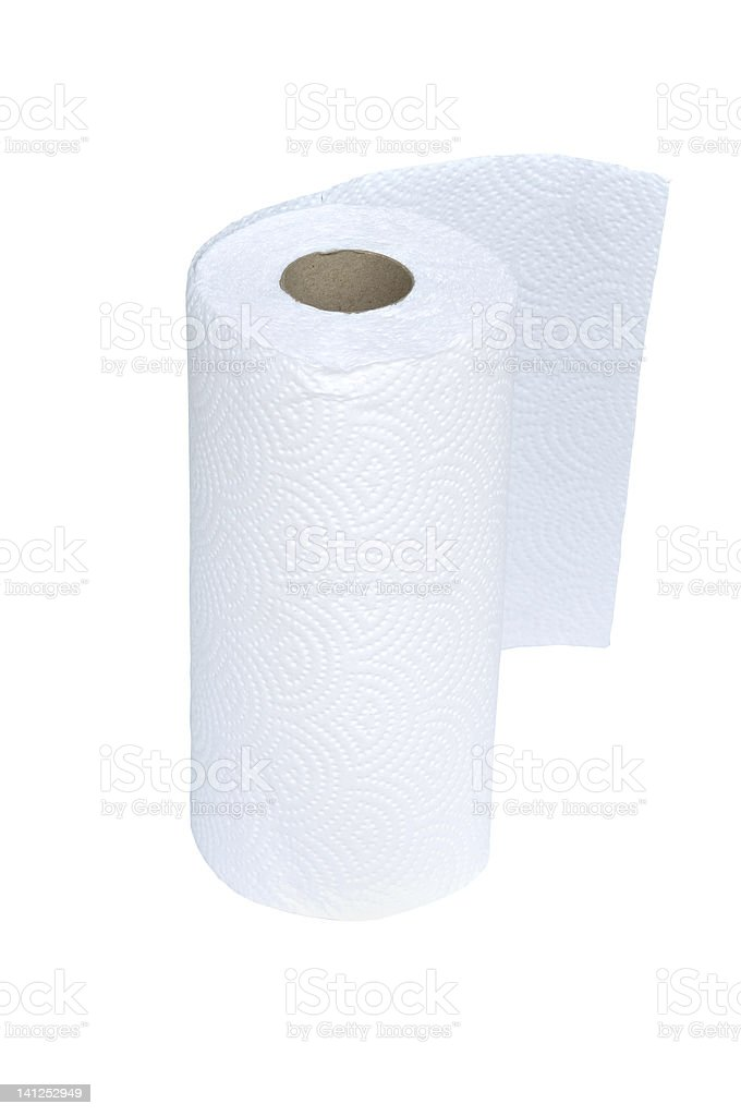 Tissue paper roll royalty-free stock photo