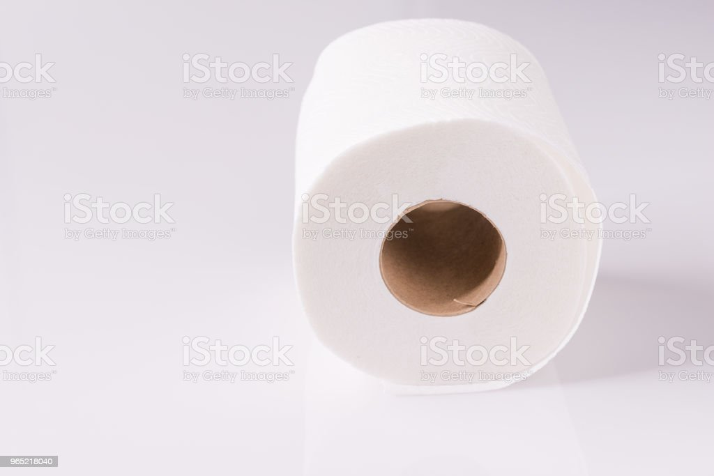 Tissue roll paper on white background zbiór zdjęć royalty-free