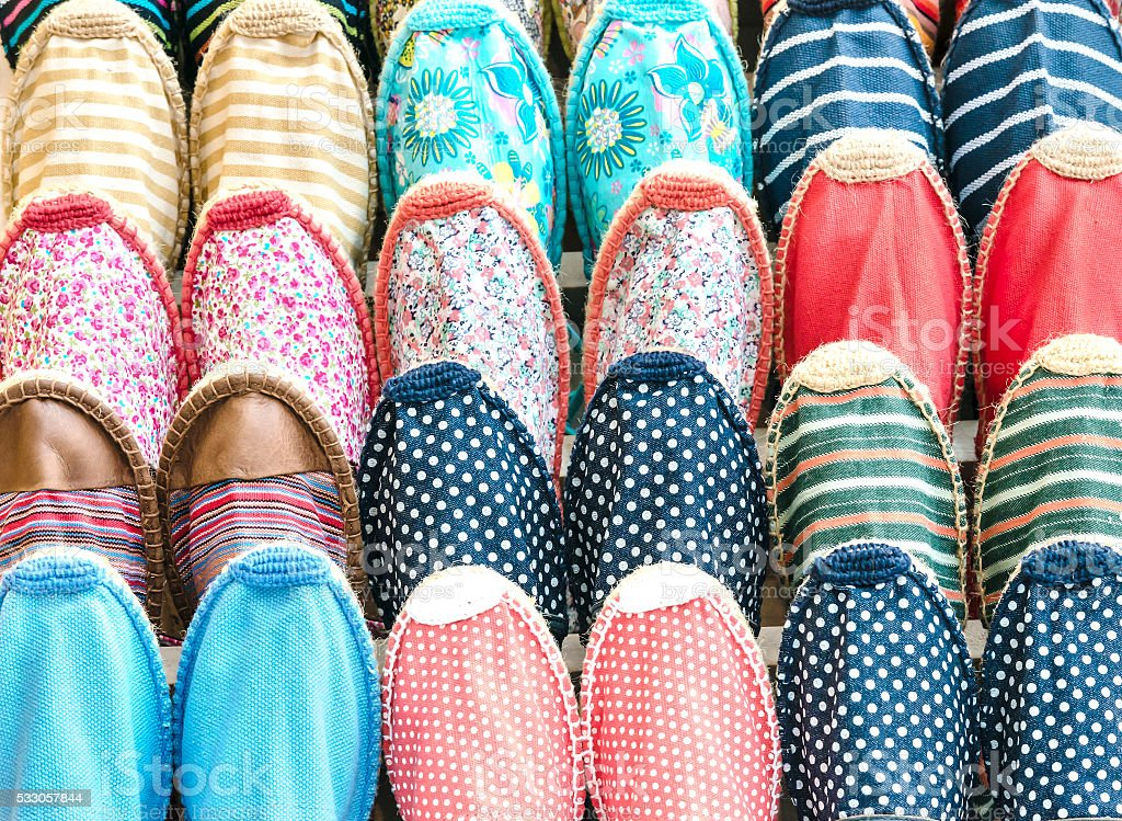 Tissue shoes background stock photo