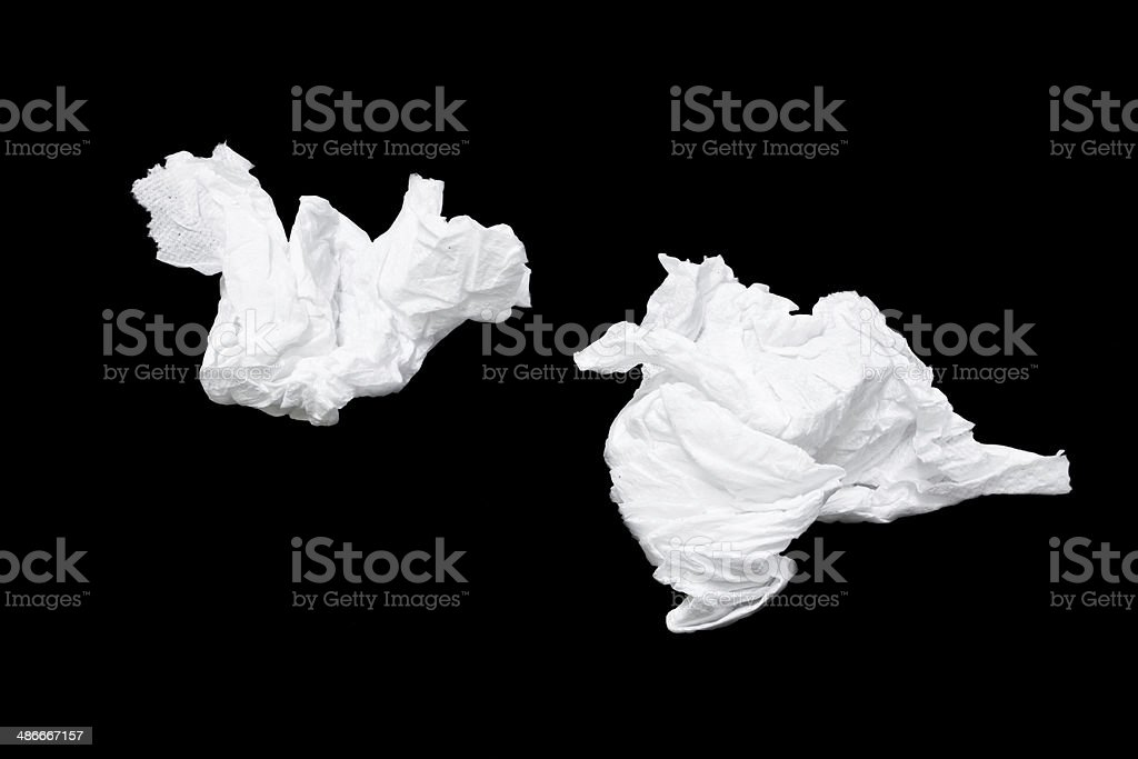 Tissues used stock photo