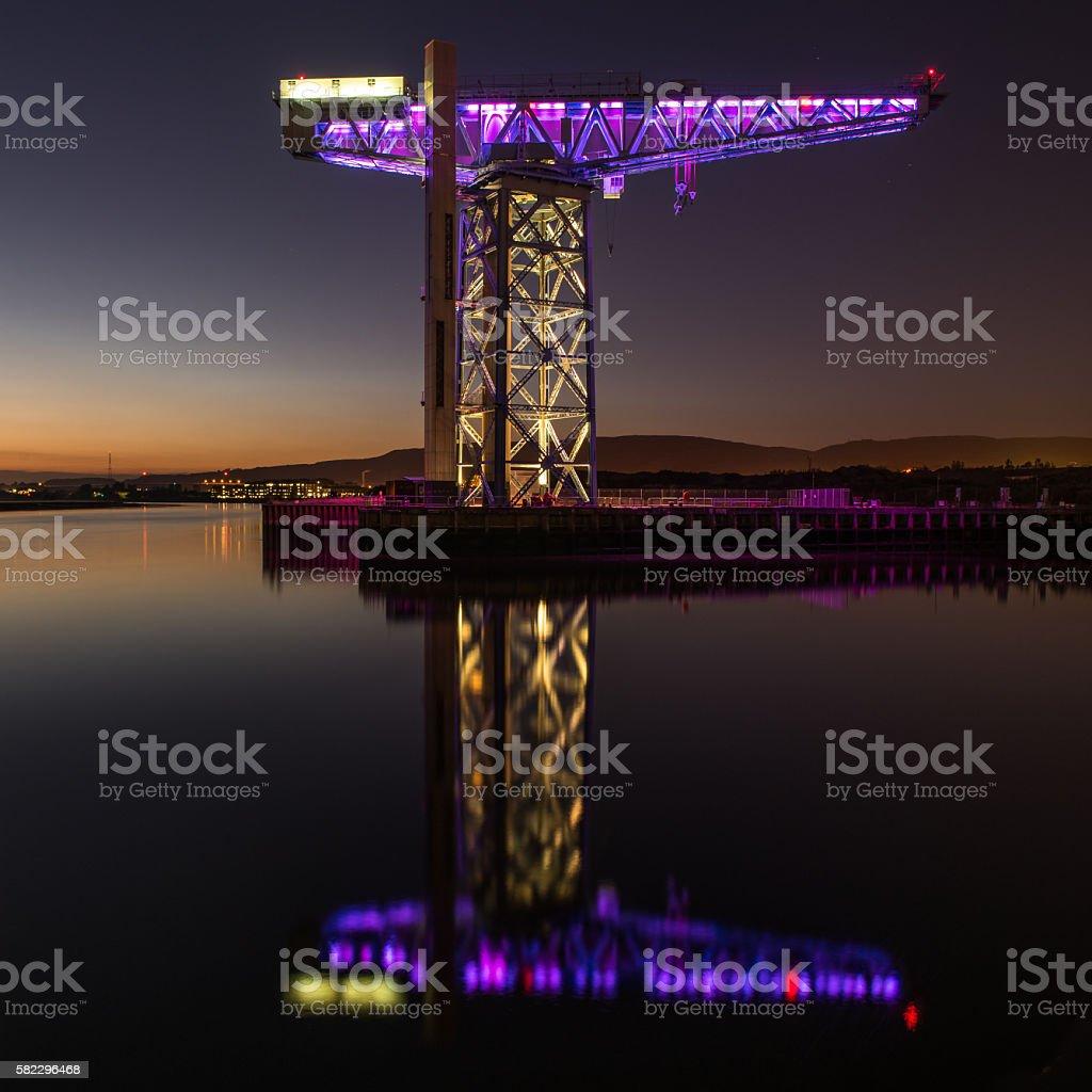 Titan Crane, Clydebank Scotland stock photo
