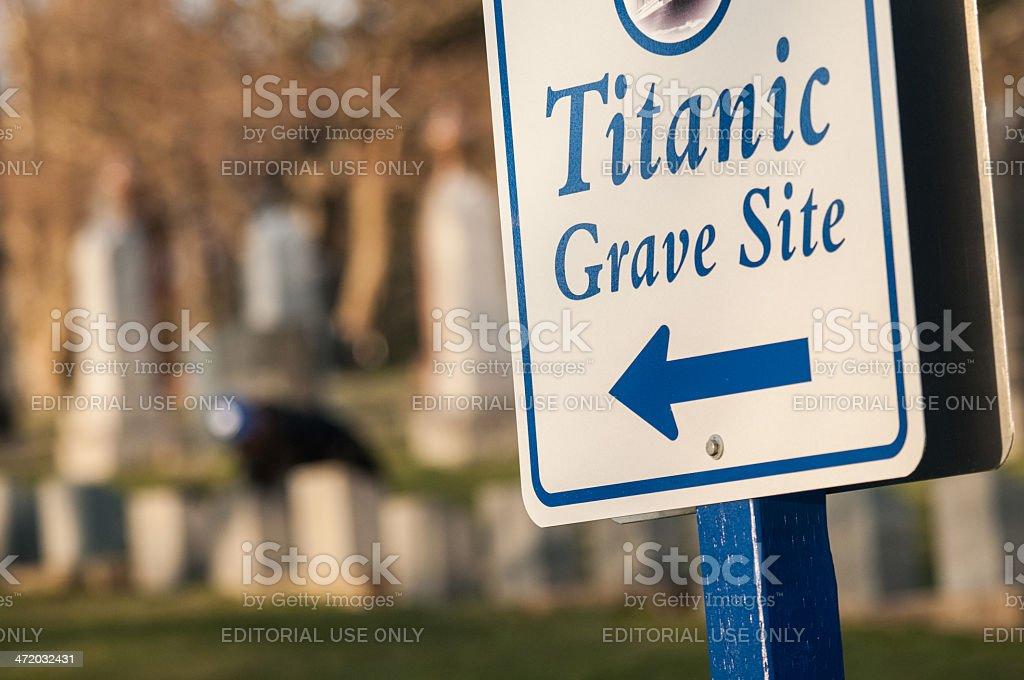Titanic Grave Site stock photo