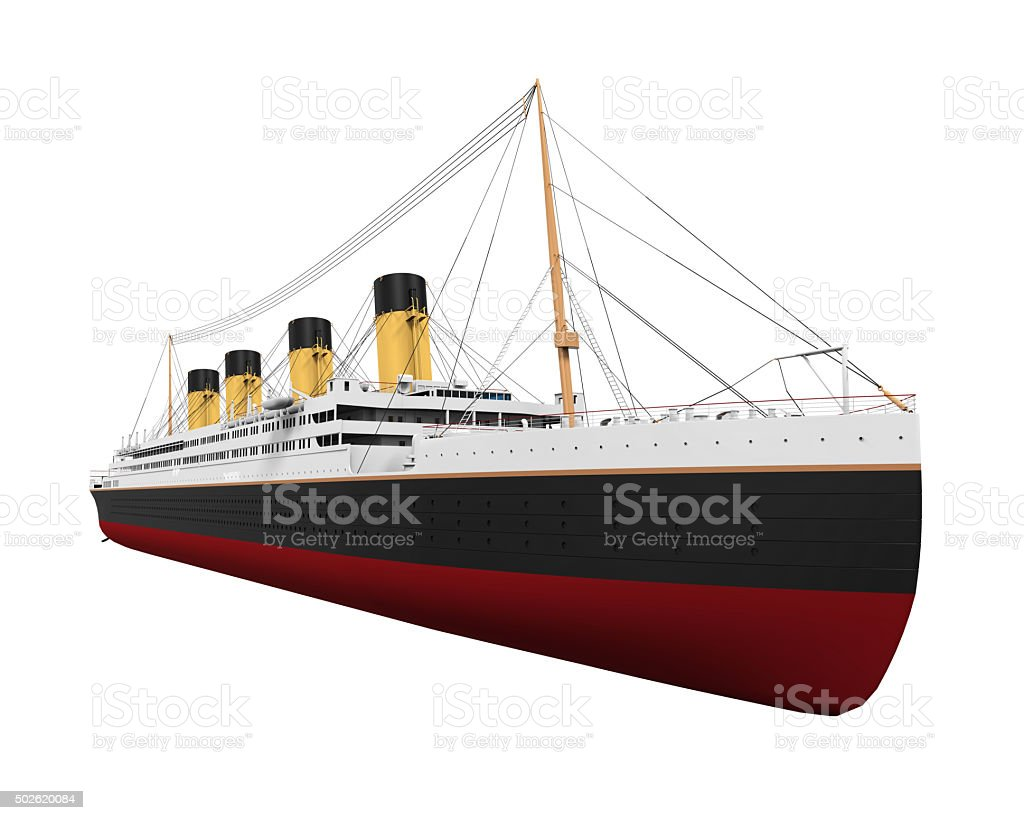 RMS Titanic Isolated stock photo