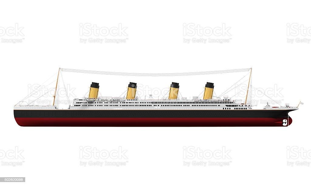 RMS Titanic Isolated stock photo