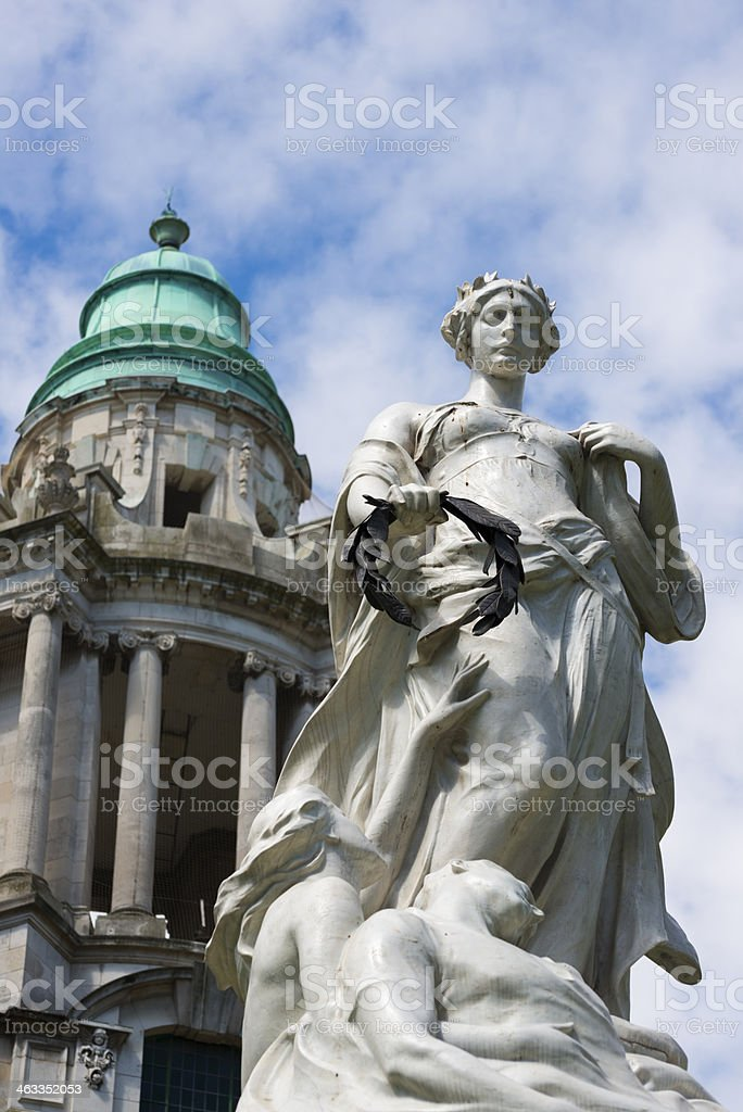 Titanic Memorial at Belfast City Hall stock photo