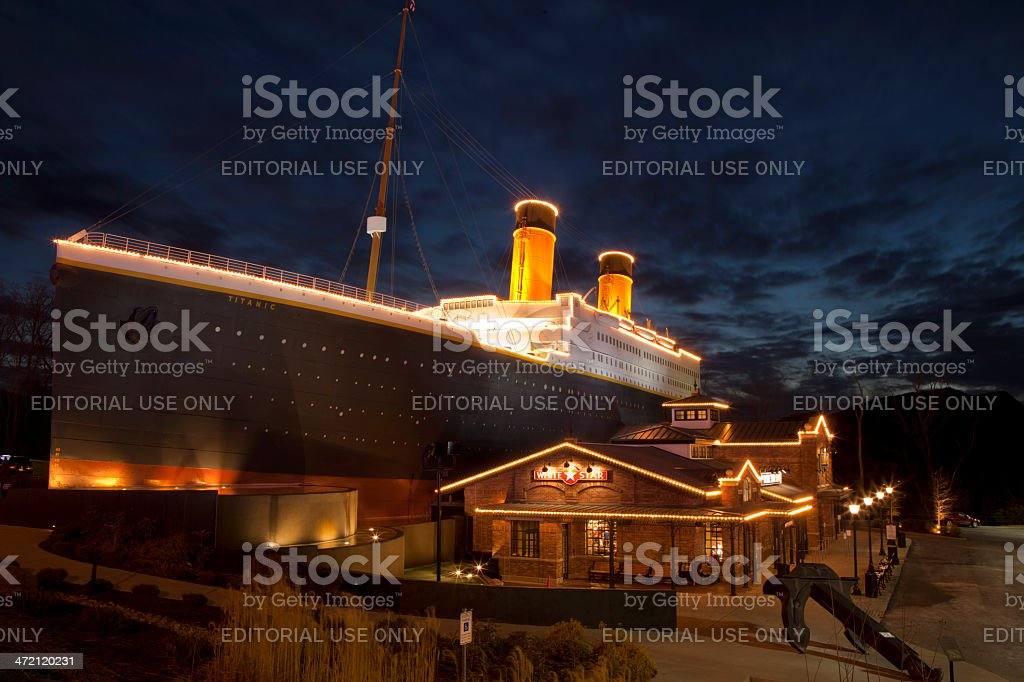 Titanic Museum in Pigeon Forge, Tennessee stock photo