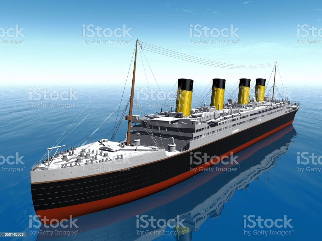 Titanic vector art illustration