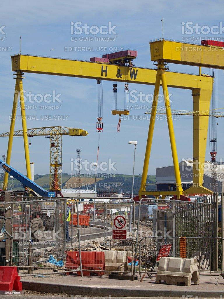 Titanic Shipyard Area royalty-free stock photo