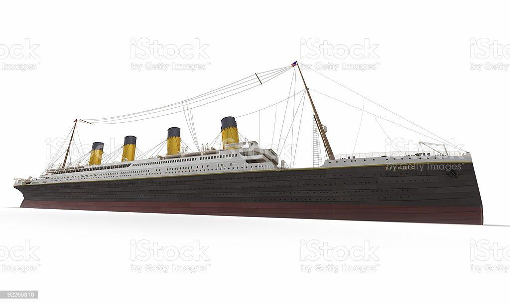 Titanic side view stock photo