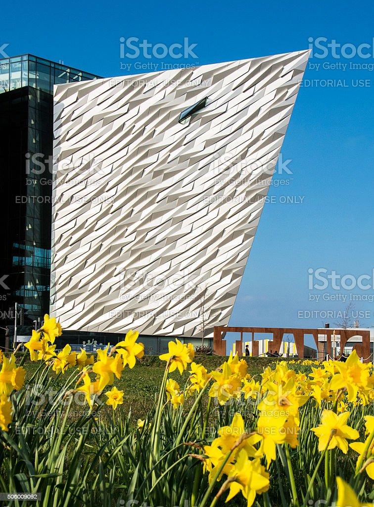Titanic Visitors Centre in spring stock photo
