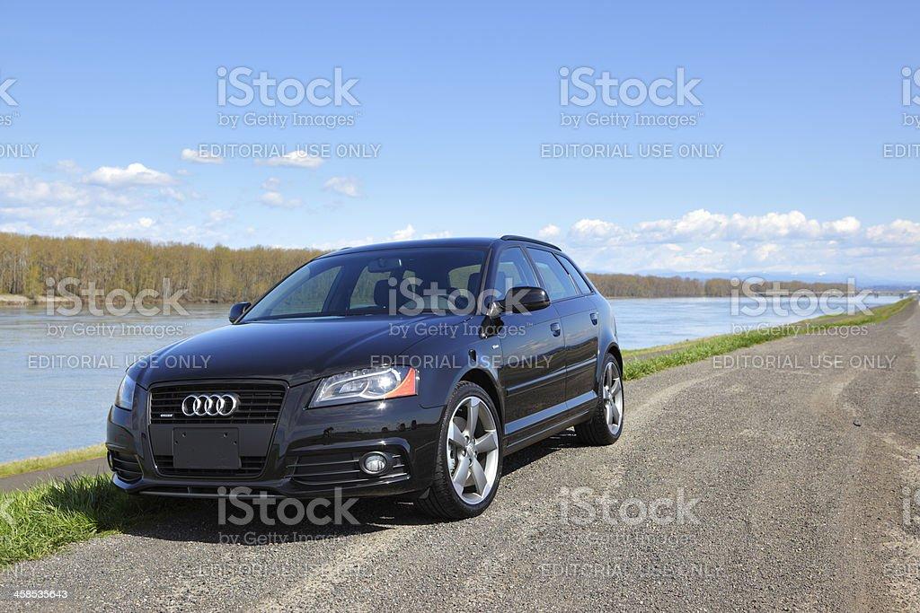 Titanium Audi A3 2011 royalty-free stock photo