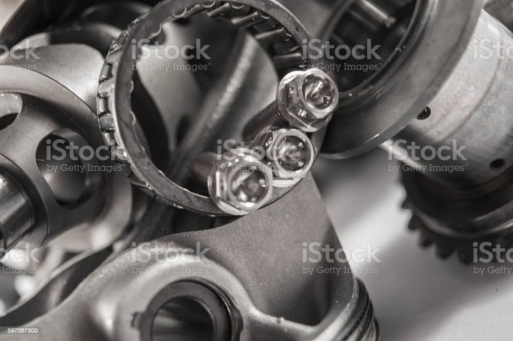 Titanium bolts royalty-free stock photo