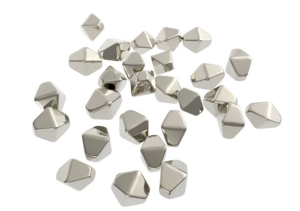 Titanium dioxide TiO2 nanoparticles stock photo