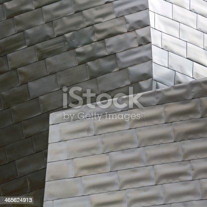 Titanium facade detail.