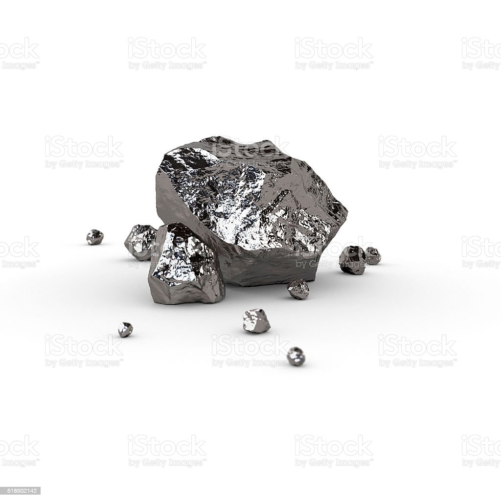 Titanium, mineral raw materials isolated illustration stock photo