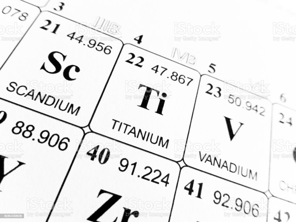 Titanium on the periodic table of the elements stock photo istock titanium on the periodic table of the elements royalty free stock photo gamestrikefo Images