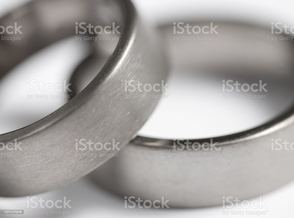 Titanium rings stock photo