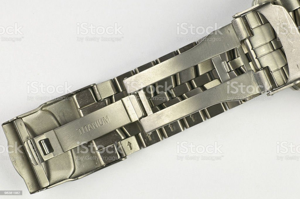 titanium watch braselet royalty-free stock photo