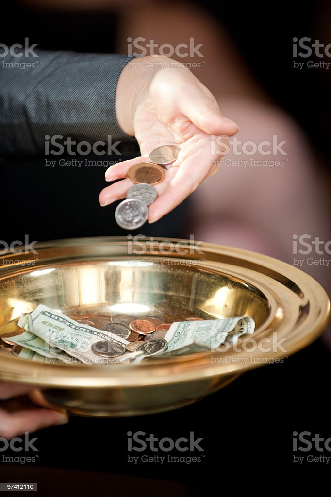 Tithe and Offering royalty-free stock photo