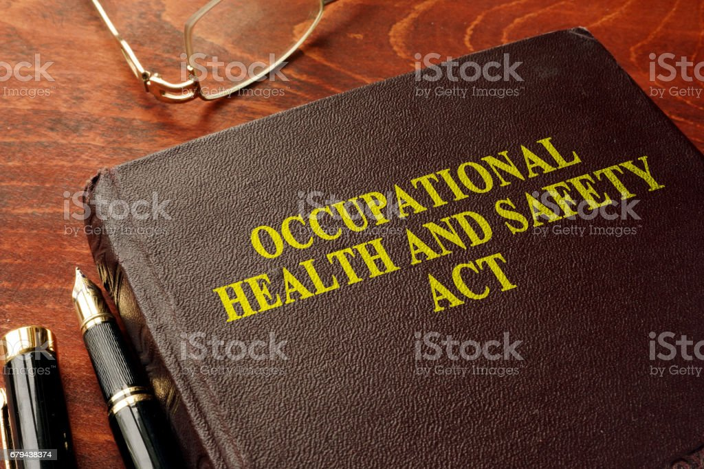 Title occupational health and safety act OHSA on the book. royalty-free stock photo