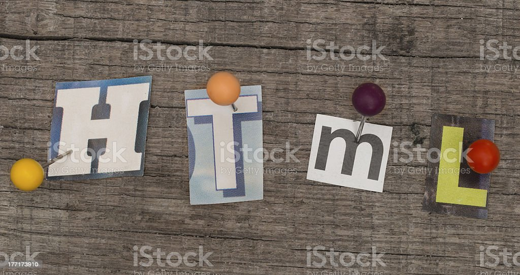 HTML title royalty-free stock photo