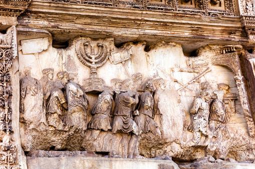 Titus Arch Roman Loot Jerusalem Temple Victory Forum Rome Italy