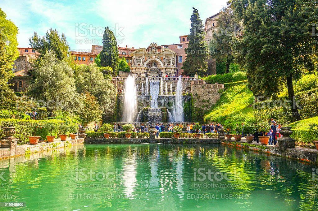 Tivoli, Italy - May 03, 2015 - Villa D'este stock photo