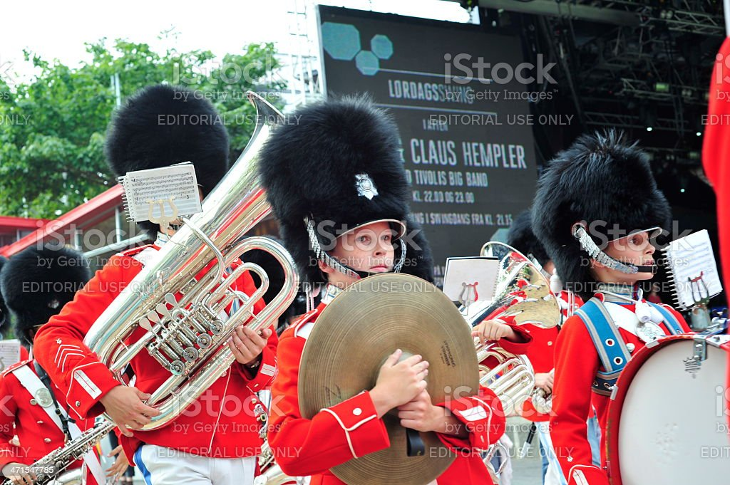 Tivoli Marching Band Behind royalty-free stock photo