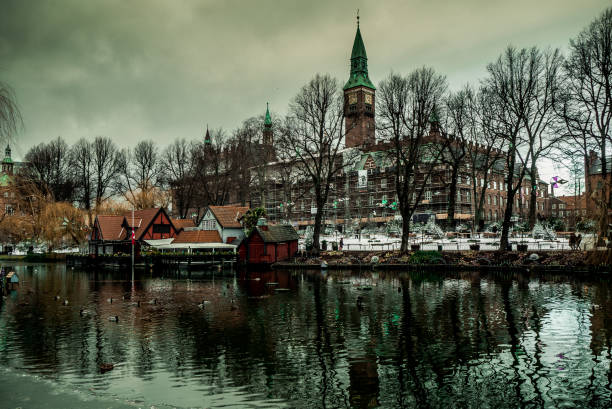 Tivoli Winter Gardens in Copenhagen Denmark stock photo