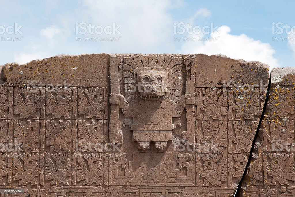 Tiwanaku - Bolivia stock photo