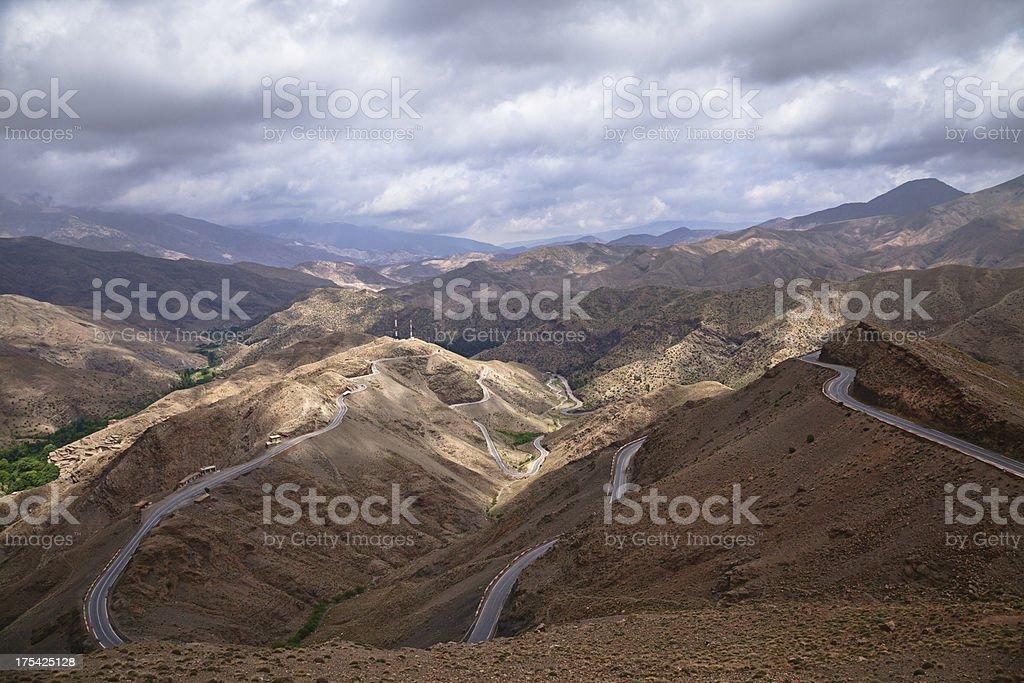 Tizi n'tichka pass, Morocco stock photo