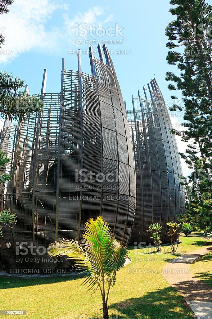 Tjibaou Cultural Center, Noumea, New Caledonia royalty-free stock photo