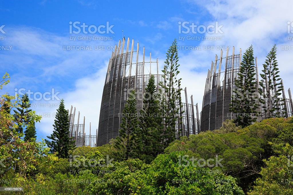 Tjibaou Cultural Center, Noumea, New Caledonia royalty-free stock photo