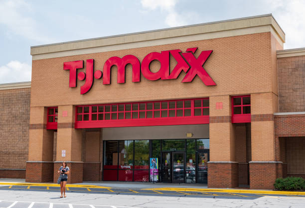 T.J.Maxx storefront stock photo