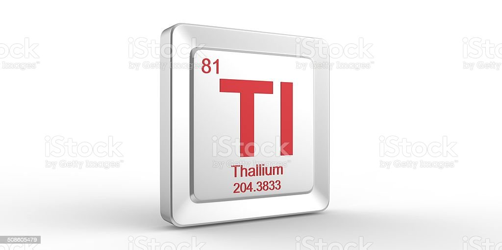 Tl Symbol 81 Material For Thallium Chemical Element Stock Photo