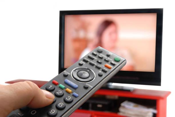 Télécommande télé stock photo