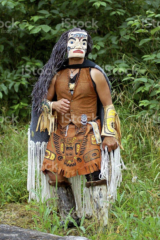 tlingit indian stock photo