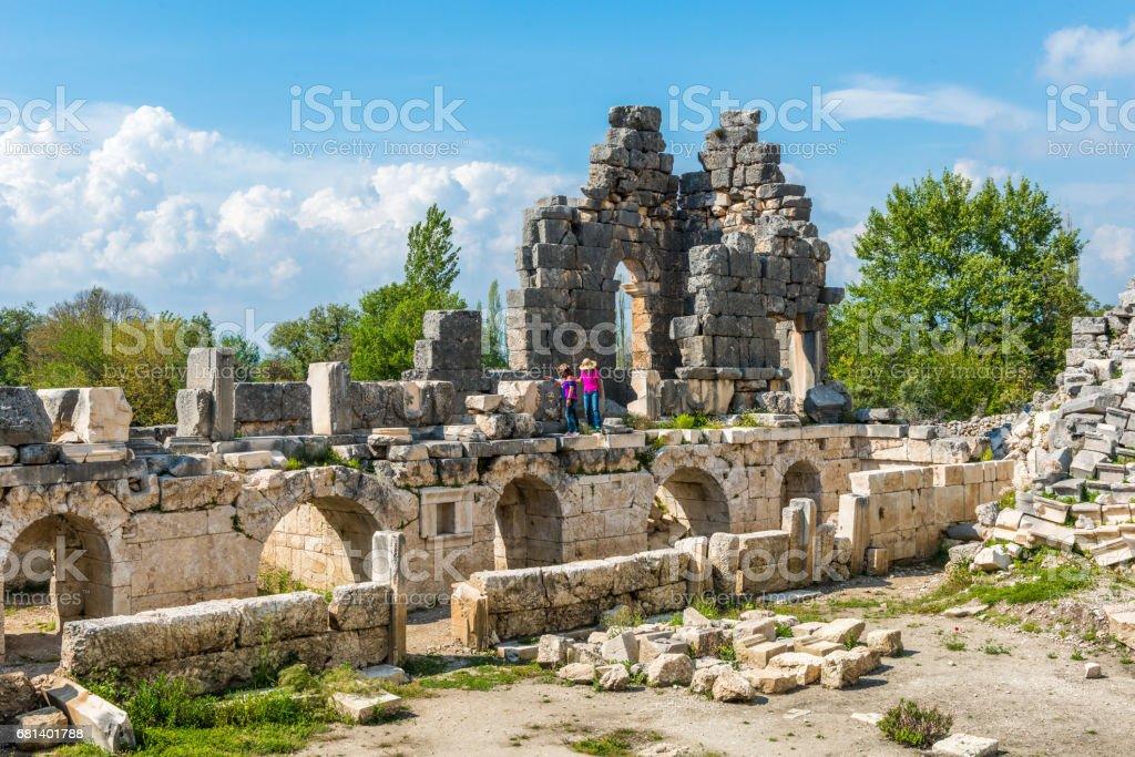 Tlos ancient city from Fethiye / Turkey. royalty-free stock photo