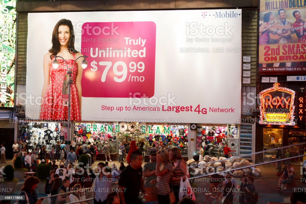 T-Mobile Billboard Times Square New York City royalty-free stock photo