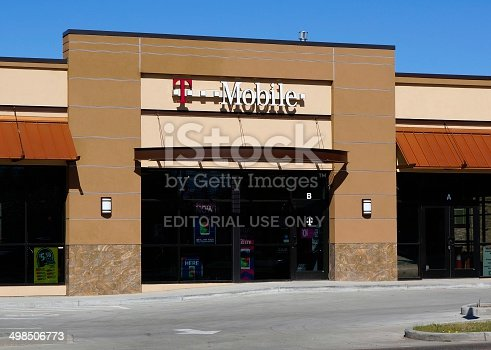 Fort Collins, Colorado, USA - April 24, 2014: A T-Mobile location in Fort Collins. T-Mobile is a wireless service provider with operations around the world.
