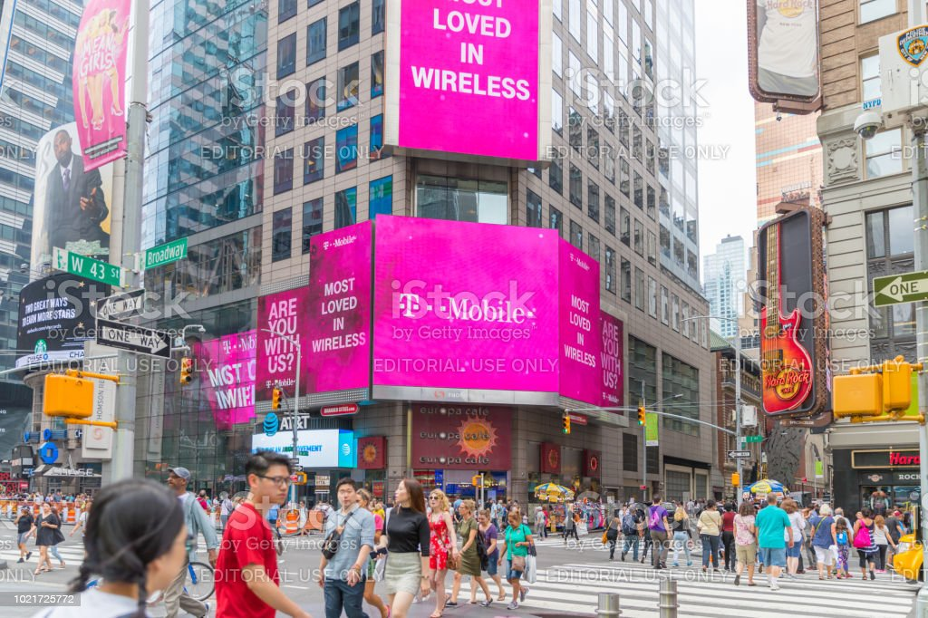 T-Mobile Retail Wireless Store. stock photo