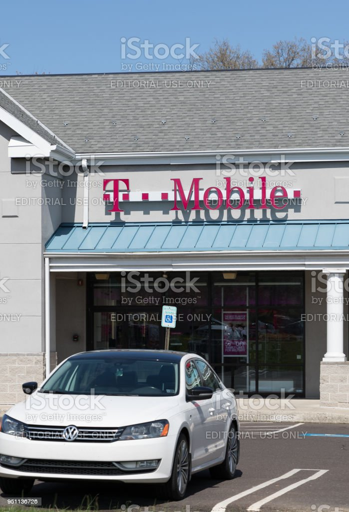 T-Mobile Retail Wireless Store stock photo