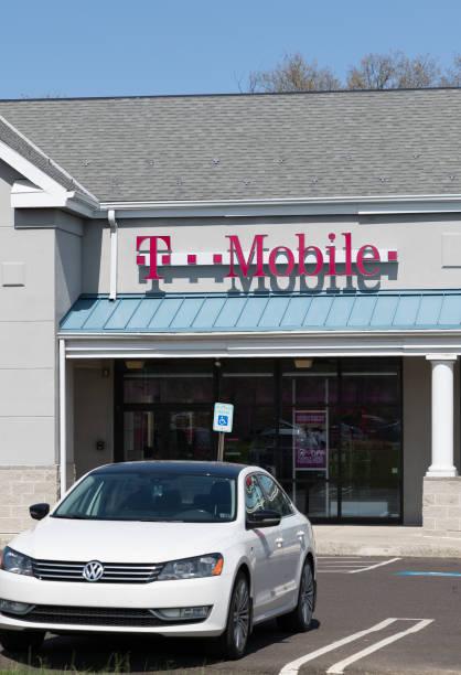 T-Mobile Retail Wireless Store stock photo